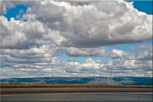 city clouds bay harbor san francisco day power cloudy 100views redwood pylons slough cloudscape channel westpoint buoy 9953