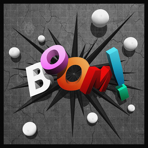 BOOM! limited edition print 3D type by Michael Murray Artist