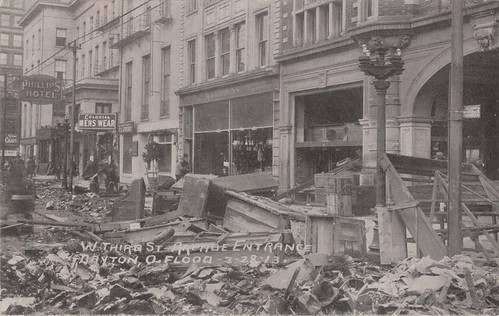 Dayton Arcade, 1913 (Image courtesy of Dayton Metro Library, Flood Postcard #39)