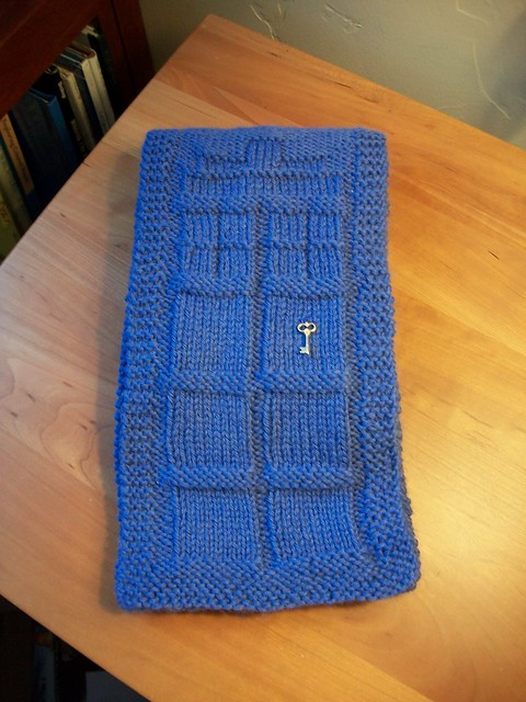 Free Knitting Pattern For Scarves : TARDIS Scarf Flickr - Photo Sharing!