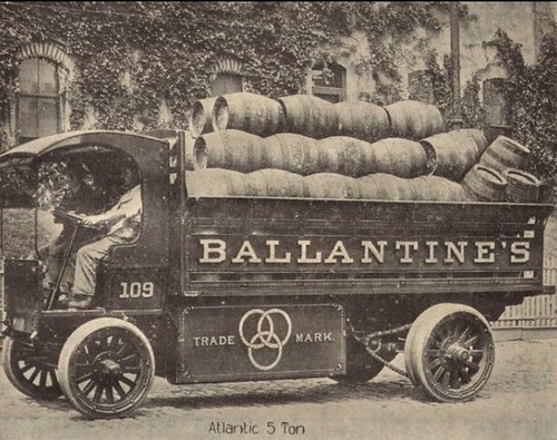 1915 Ballantine's Beer  -  Atlantic 5 Ton Electric Truck by carlylehold