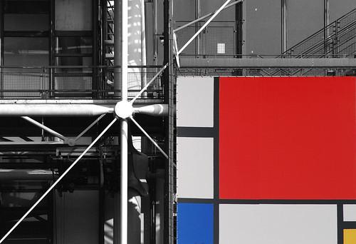 Mondrian à Beaubourg / Mondrian in Beaubourg