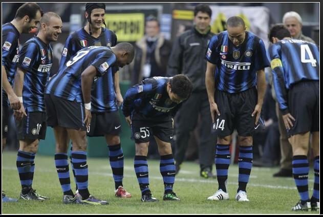 Yuto Nagatomo celebrates his first goal © milano.repubblica.it