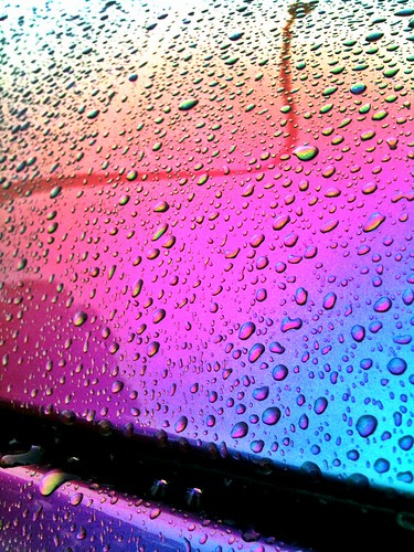 pink blue colour reflection water car beads angle violet clean lamppost changing iridescent beading duco