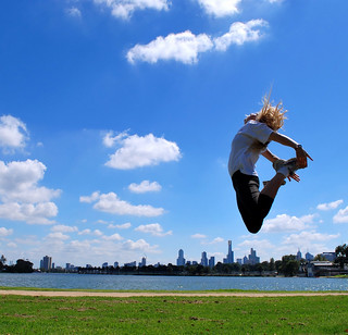 Jumping at Albert Park Lake [Explored]