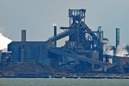 industry lakemichigan greatlakes blastfurnace steelmill nikkor600mmf4edais olympuspenepl1micro43micro43 olympuspenvf2viewfinder
