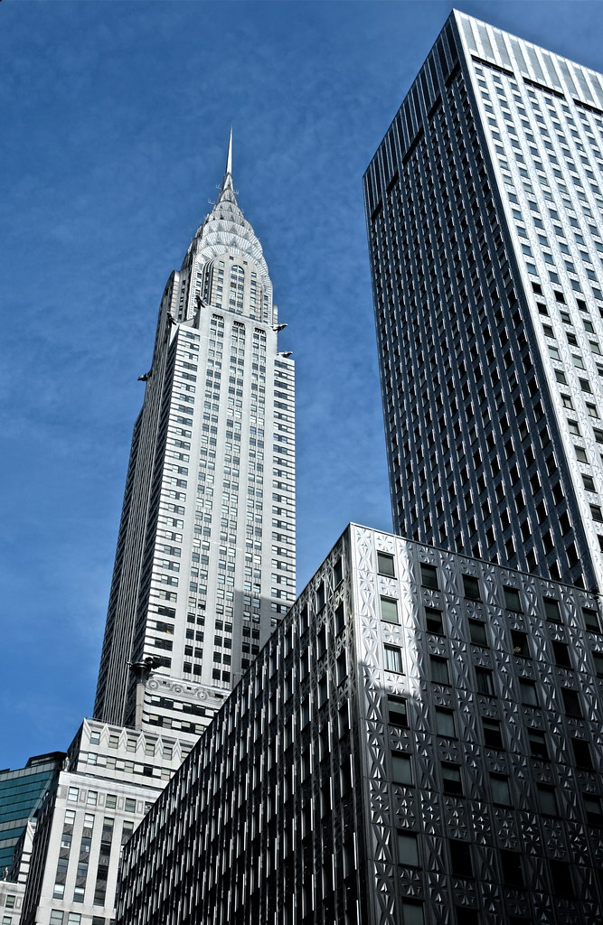 Chrysler Building - Silver and Blue