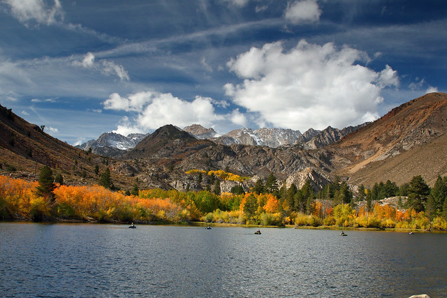 Great Fall scene at Intake 2 near Lake Sabrina
