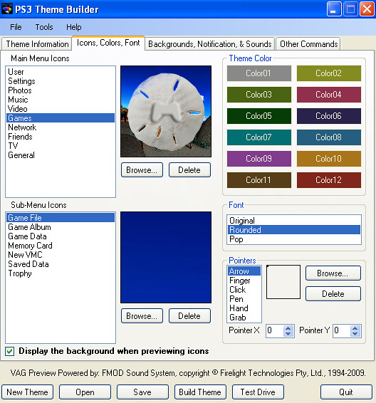 PS3 Theme Icon Color fonts | How to create your own PS3 Booy