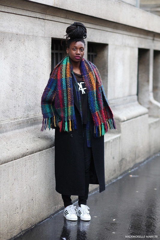 Aisha at Paris fashion week