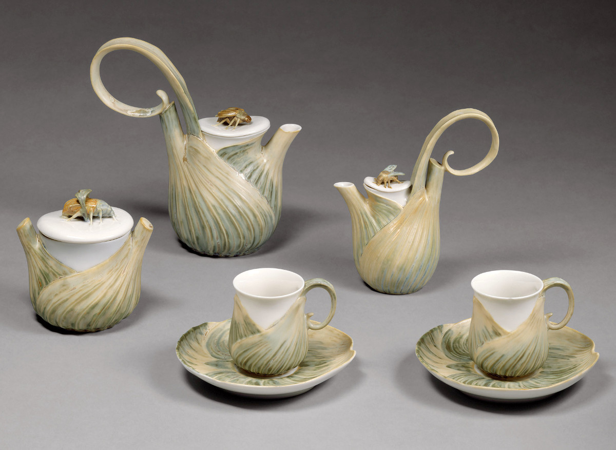 1900 Art Nouveau-inspired Coffee Service. Hard-paste porcelain. metmuseum