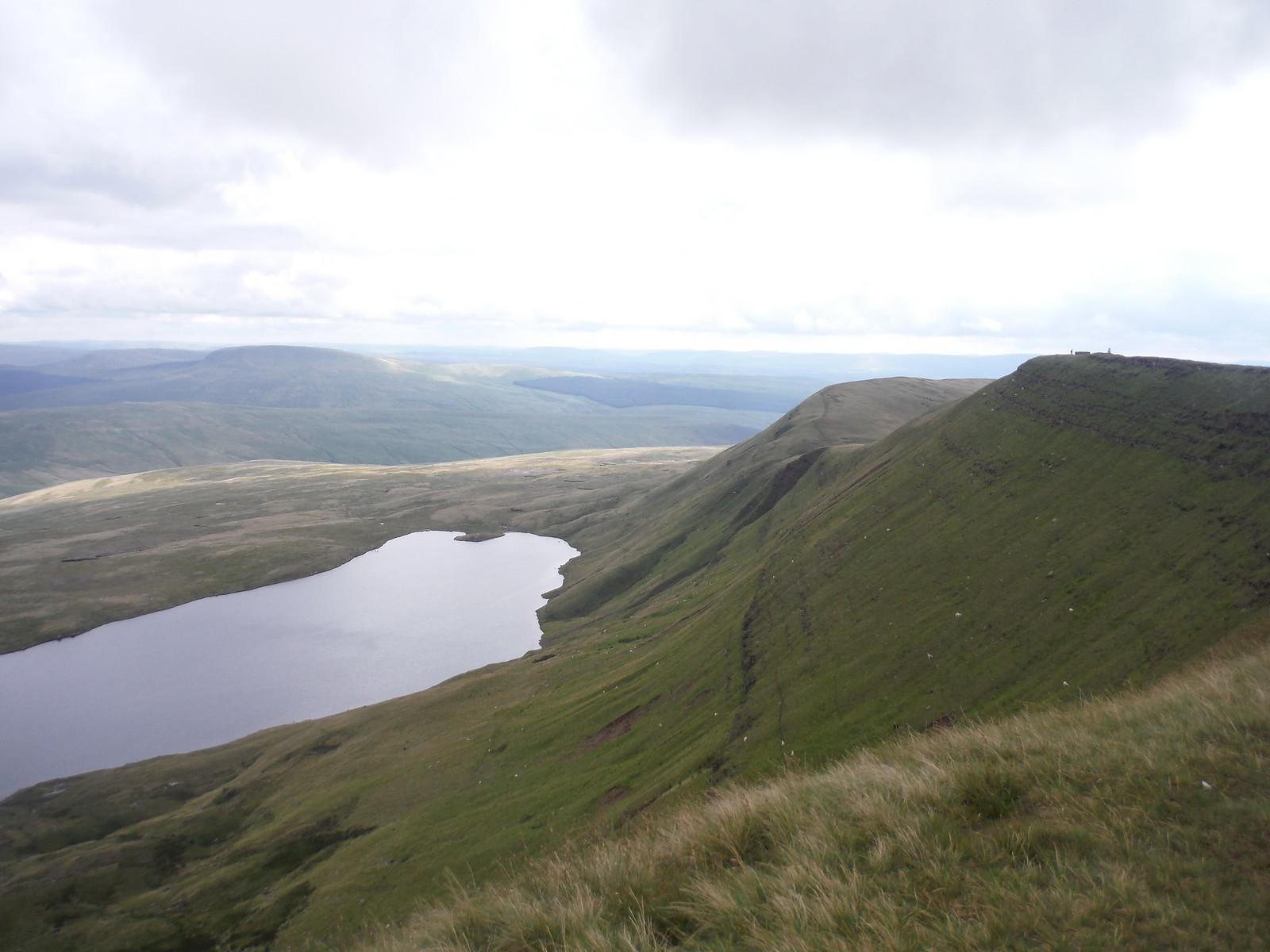 Llyn y Fan Fawr from Twr Fan Foel (Fan Brycheiniog's subsidiary summit) SWC Walk 279 The Black Mountain - Y Mynydd Du (Glyntawe Circular)