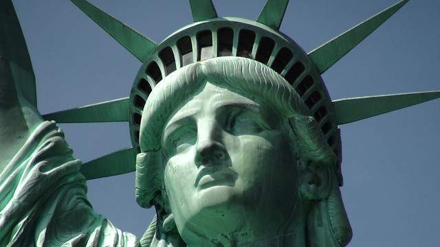 Statue of Liberty and Close-up of Head