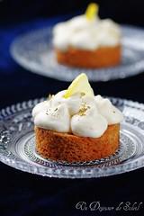 Tarte sablé breton, mousse légère au citron