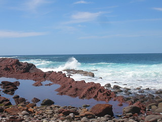 Rocky beach at Phillip Island