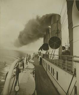 RMS Mauretania - deck