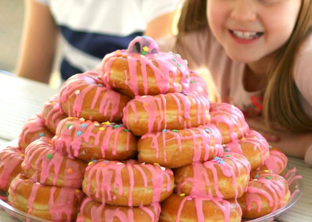 Doughnut Birthday Cake Happy Birthday Sarah