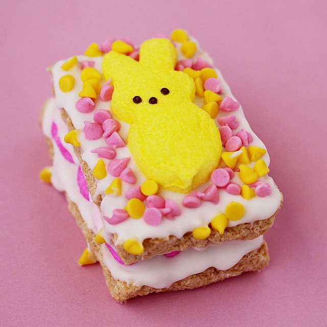 Peeps Stuffed Rice Krispy Treats For Spring | Peeps Stuffed ...