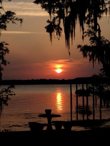 sunset boat dock florida staugustine stjohnsriver