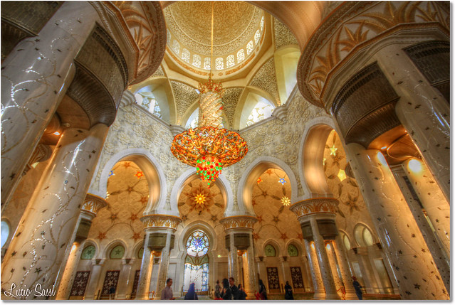Inside the Al Zayed Mosque