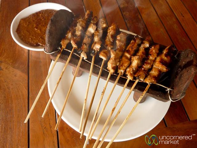Fish Satay and Peanut Sauce - Sanur, Bali