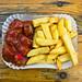 Organic Currywurst with Fries - Alain Snack, Prenzlauer Berg - Schoenhauser Allee, Berlin by Rick Eisenmenger