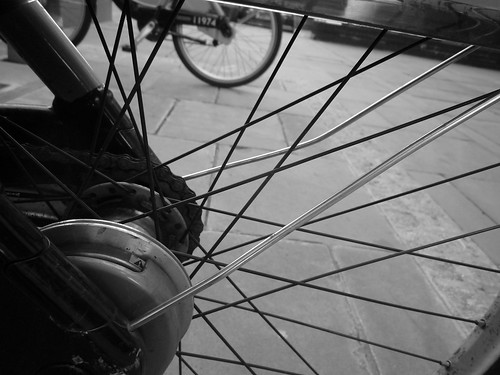 wheel - wheel through bike spokes