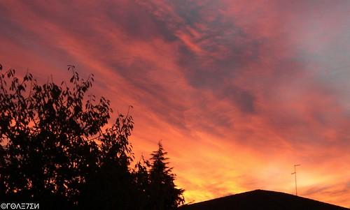 roof sunset sky italy sun tree clouds sunrise fire dawn twilight italia cityscape dusk top burning burn fvg friuli udine udin friuliveneziagiulia friul