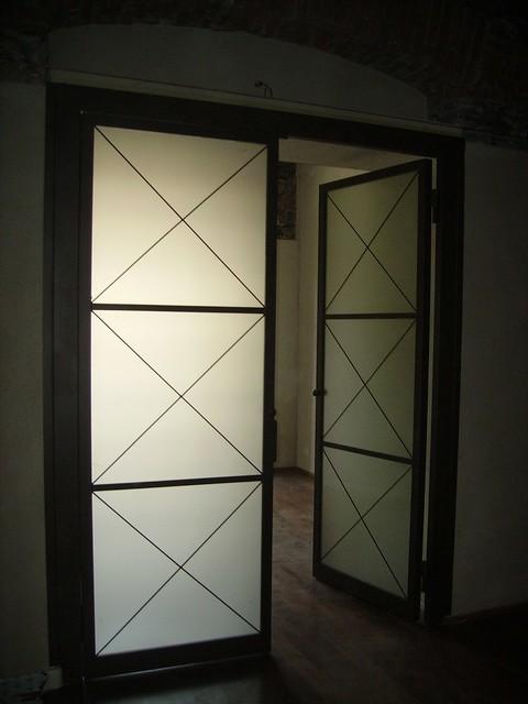 Porta interna in ferro a 2 ante con vetro satinato 5 s flickr photo sharing - Porta interna con vetro ...