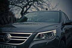 saab 9-4x(0.0), automobile(1.0), automotive exterior(1.0), volkswagen tiguan(1.0), sport utility vehicle(1.0), executive car(1.0), wheel(1.0), volkswagen(1.0), vehicle(1.0), automotive design(1.0), crossover suv(1.0), bumper(1.0), land vehicle(1.0), luxury vehicle(1.0),