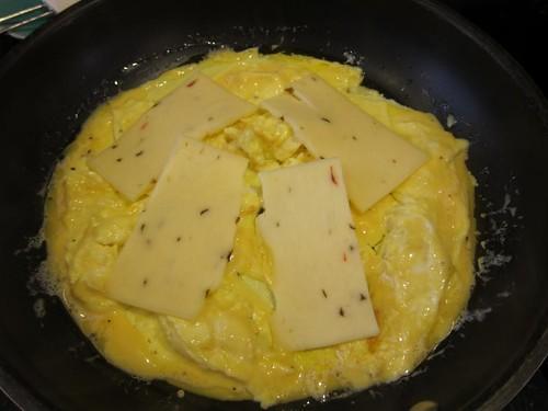 omelette, cooking demonstration, eggs IMG_5412