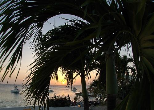 sunset sky bonaire