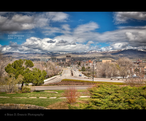 city colors rain clouds landscape downtown cityscape sunny idaho hdr boisedepot boiseid 365project boiseoverview
