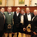 With colleagues at the Robbie Burns dinner