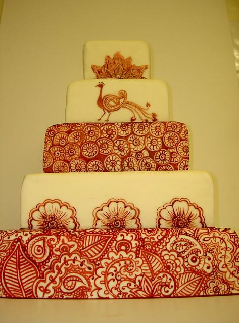 Mehndi Inspired Cake : Henna tattoo inspired wedding cake cakes