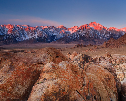 california light sunrise landscape rocks day clear lonepine easternsierras alabamahills