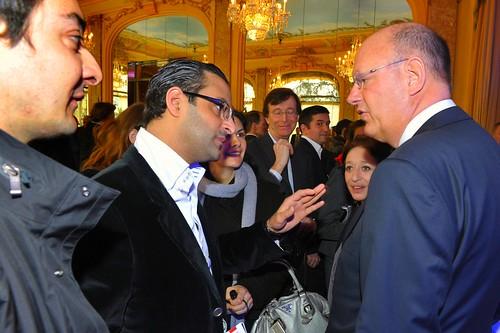 Conversation sympathique avec Remy Pflimlin - Président de France Télévisions (France 2, France 3, France 4, France 5 et France O)