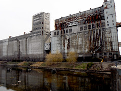 Abandoned Grain elevator, Factory, Montreal Waterfront