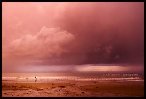 africa sea storm clouds person persona mar silouette nubes tormenta senegal silueta teninopia enlainopia