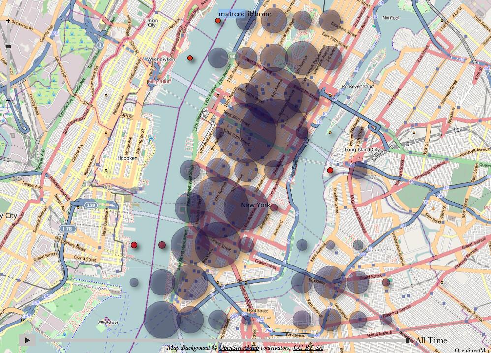 My New York heat map