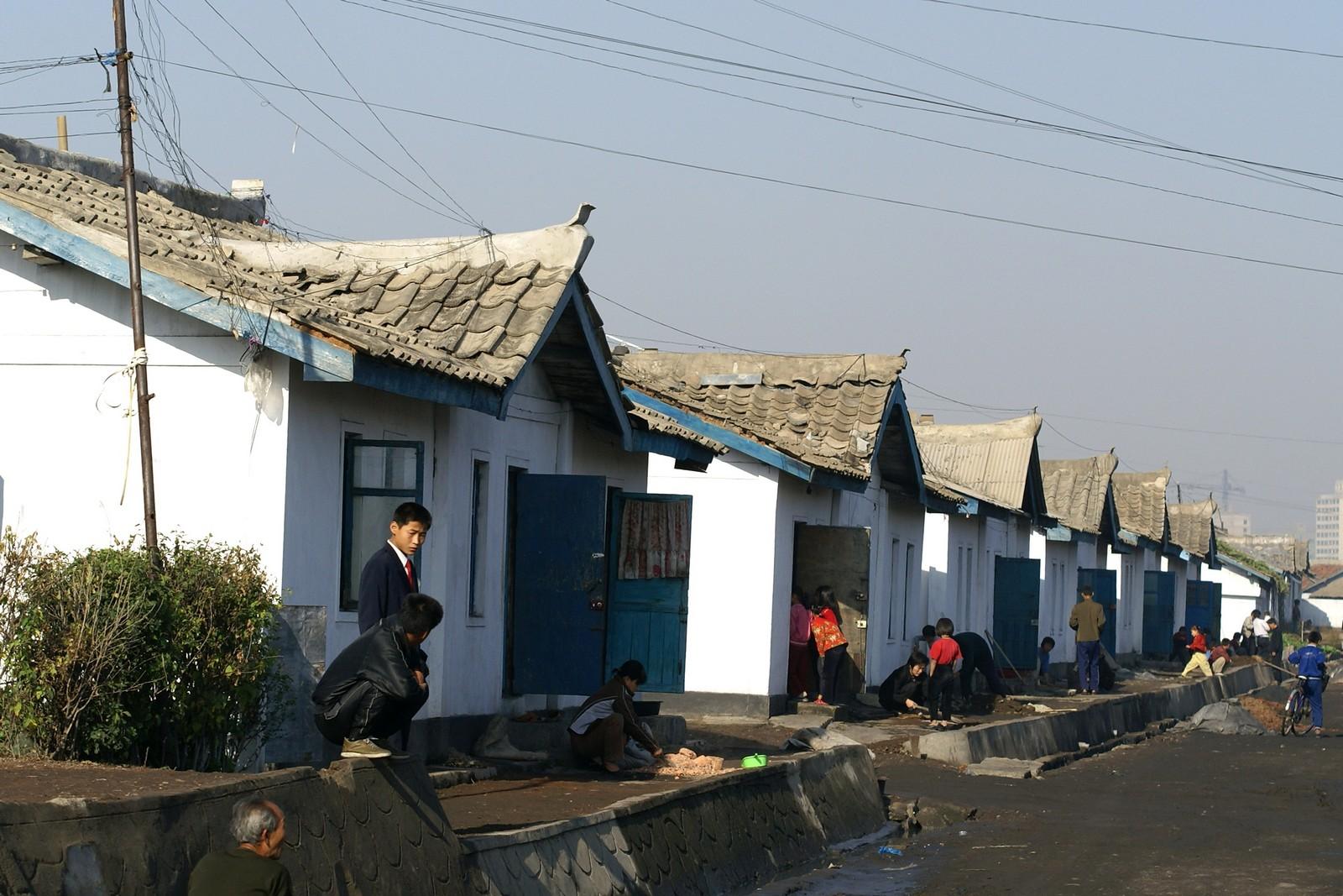Lane in Ryul-dong, Pyongyang