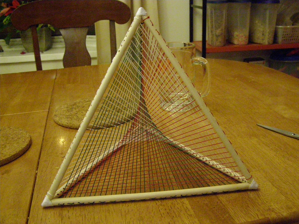 String Art Tetrahedron