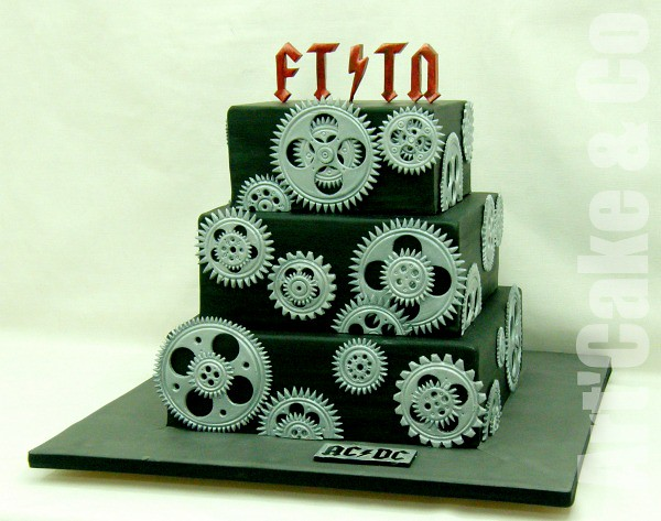 ACDC wedding cake