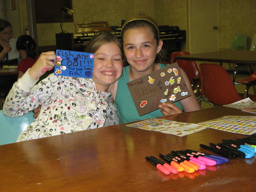 Making Crafts at Discovery Club