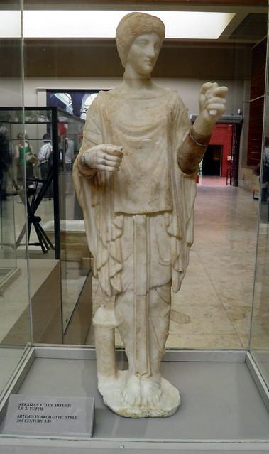Artemis in archaic style, 2nd century AD, Ephesus Museum, Selçuk, Turkey