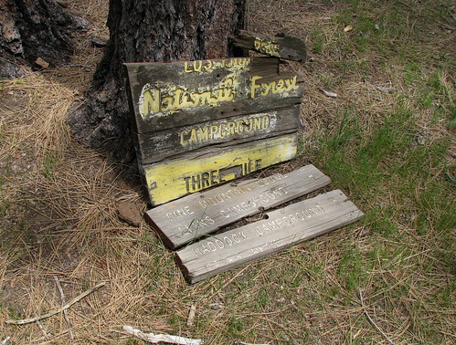 Three Mile Camp -  The Old Sign Is Still Here....Barely!