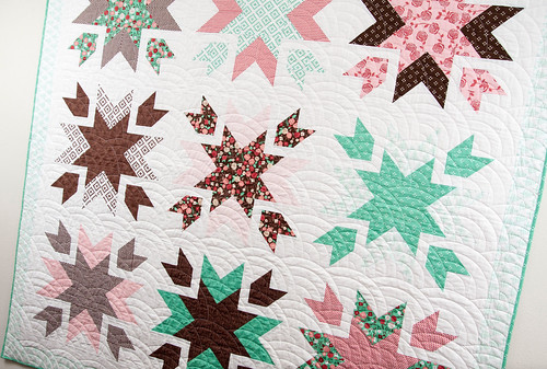 Snow Blossoms quilt pattern by Vanessa Goertzen of Lella Boutique.