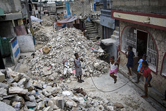 Earthquake Debris Continues to Clog Port-au-Prince Streets by United Nations Photo
