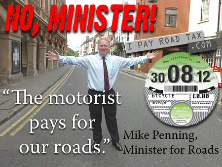 Government minister sticks to his mistaken claim that motorists pay for roads