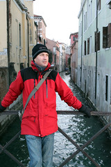 Chilly Poser in Venice